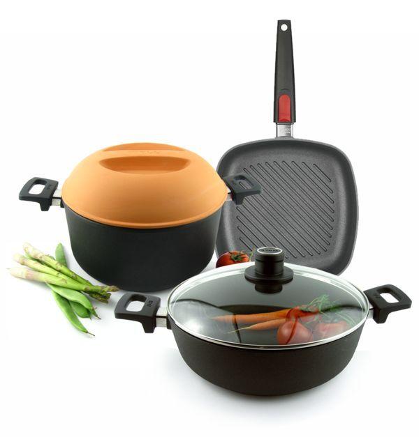 Cocinar sin t xicos sartenes ollas y cacerolas con - Utensilios de cocina de titanio ...