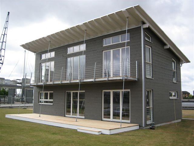 Tipos de casas de madera el correo del sol - Tipos de tejados para casas ...