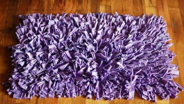 Alfombra Baño Antideslizante Infantil:Cómo hacer una alfombra con retales de tela